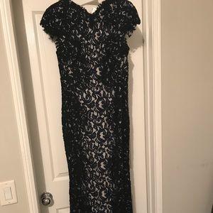 Tadashi Shoji floor length evening gown